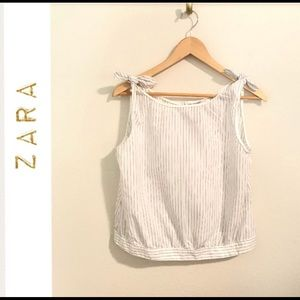 Zara tie at the shoulders and button up back